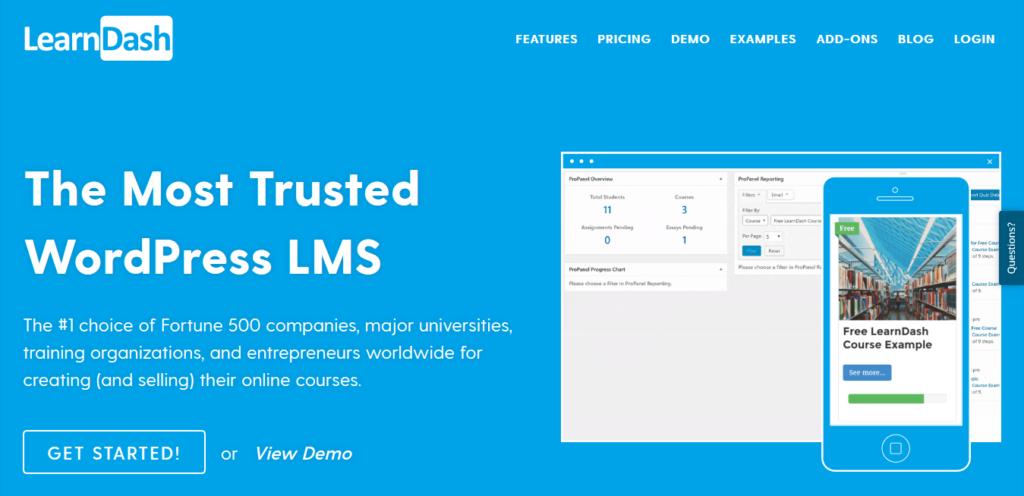 Plateforme de formation en ligne LearDash